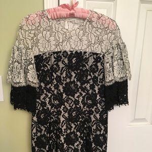 Black Halo lace dress